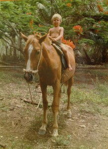 Molassas and Tyler, Tanna Island, Vanuatu. Early 1980's